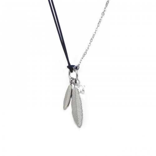 Collier plumes et strass