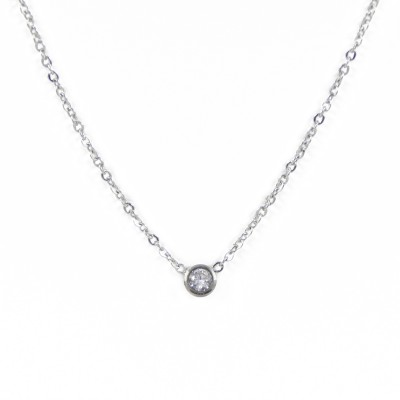 Collier mini strass