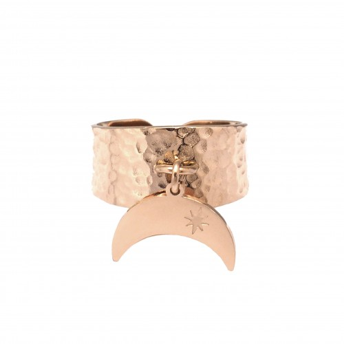 Bague pampille lune